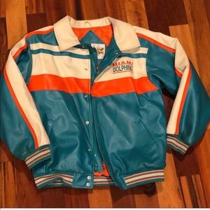 Miami Dolphins Faux leather jacket